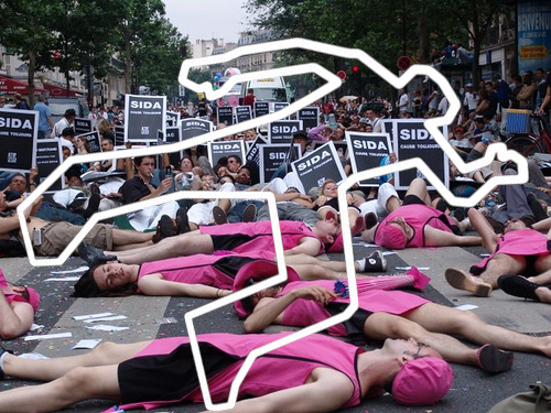 Die_In organisé par Act Up Paris